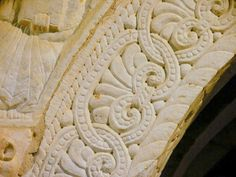 Serrabone - Prieuré - Priory at Canigou, France - architectural detail of the Romanesque stone carving Romanesque Architecture, Architecture Details, Built Environment, Forever, Pyrenees, Stone Carving, Engineering, France, History