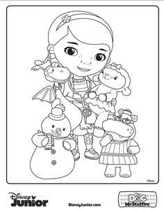 disney doc mcstuffins coloring pages - doc mcstuffins birthday party on pinterest doc