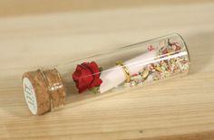 Rose message in a bottle Secret/Friendship/Love by GoldKong, $5.90