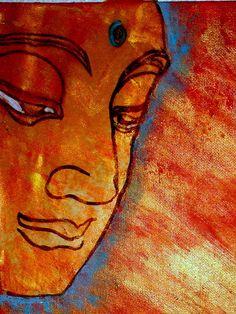Buddha painted by regina ciorba-urso