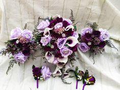 Lilac Wedding, Gothic Wedding, Flower Bouquet Wedding, Bride Bouquets, Bridesmaid Bouquet, Wedding Favours, Wedding Ideas, Purple Halloween, Alternative Wedding