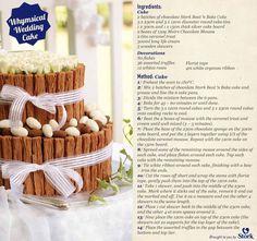 Simple wedding cake recipe - idea in 2017 Whimsical Wedding Cakes, Caramel Treats, Ice Cream Drinks, Chocolate Mousse Cake, Cake Board, Wedding Ideas, Rustic Wedding, Wedding Stuff