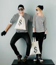 Halloween Kostüme selber machen bankräuber