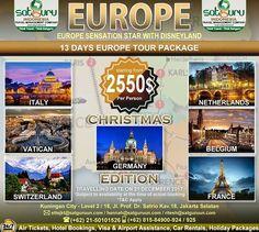 Satguru Indonesia - Travel Management Company, 6 : Hello travelers, sudah siap untuk liburan akhir tahun anda bersama keluarga? Ikuti tour Christmas Edition kami ke Eropa dengan mengunjungi beberapa lokasi wisata menarik dan indah di beberapa negara selama 13 hari dengan harga terjangkau dan nyaman. Ikuti kesempatan terbatas ini. 👉Hubungi kami dan pesan sekarang juga! *harga sewaktu-waktu bisa berubah. -------------------------- 💳Dapatkan diskon dan promo khusus lainnya di bulan ini…