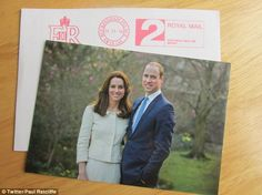 A new portrait of the Duke and Duchess of Cambridge has been revealed on a thank you card ...