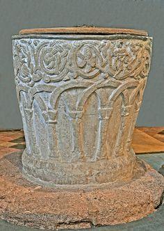 Anglo-Saxon Font, St.Michaels Church, Alphington,Devon.