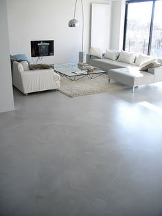 Choose the Right Basement Flooring Living Room Flooring, Basement Flooring, Laminate Flooring, Floor Design, House Design, Interior Architecture, Interior Design, Stone Flooring, Cement Floors