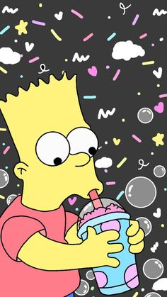 Bart Simpson New Horizons Guide Mood Wallpaper, Homescreen Wallpaper, Tumblr Wallpaper, Aesthetic Iphone Wallpaper, Simpson Wallpaper Iphone, Wallpaper Iphone Disney, Cartoon Wallpaper, Bart Simpson Tumblr, Simpsons Drawings
