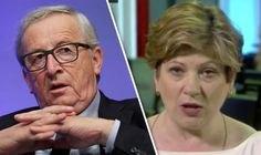"EMILY THORNBERRY turned on the President of the European Commission after he claimed that ""English was losing importance"" because of Brexit."