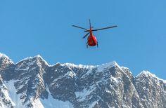 Hubschrauber Skigebiet