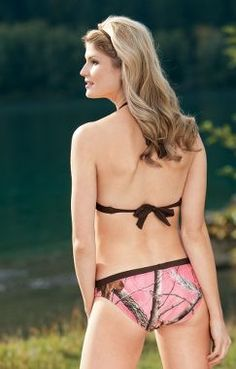 Realtree Girl® Women's Junior Camo Swim Top – Realtree APC™ (Pink)