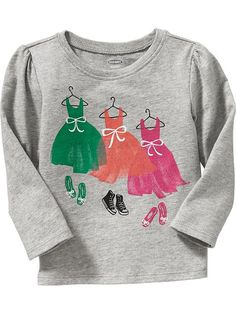 Graphic Long-Sleeved Tees for Baby Product Image