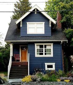 33 Best Tiny House Plans Small Cottages Design Ideas - Best Home Decors Small Cottage Designs, Small Cottage House Plans, Small Cottage Homes, Small House Plans, Small Cottages, Small Houses, Cool Houses, Cozy Cottage, Exterior House Colors