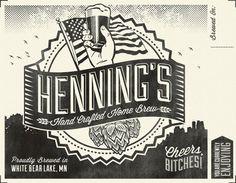 Hennings Hand Crafted Home Brew designed by Matt Alvar.