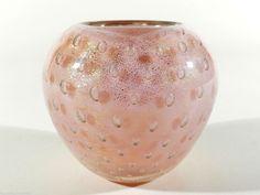 SEGUSO Glas Vase a bolle ° corodonato d oro ° Poli Murano 50er Jahre ° Etikett