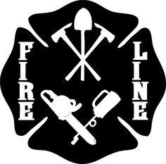 Wildland Firefighter Fire Line Maltese Cross Decal