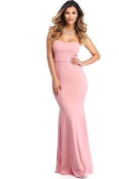Lindsay Pink Sweetheart Trumpet Dress | WindsorCloud