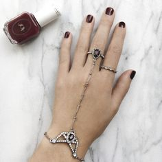 It's not the holidays without warm reds + a hint of sparkle – capture the magic of the season by pairing our Ethereal Chandelier Delicate Handpiece with our Moulin Rouge nail polish!