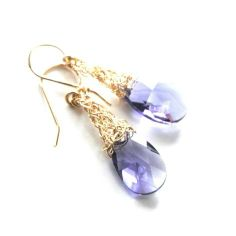 Check it out: I just bought Swarovski crystal earrings , amethyst dangle from Boticca.com