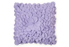 Debage Felt Petal Pillow, Lavender