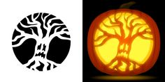Pumpkin Carving Stencils Free, Scary Pumpkin Carving, Pumpkin Carving Patterns, Scary Makeup, Horror Makeup, Zombie Makeup, Scary Halloween Costumes, Halloween Makeup, Tree Stencil