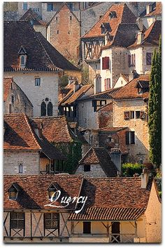 Rooftops in Quercy, France Places To Travel, Places To See, Beautiful World, Beautiful Places, Belle France, Dordogne, Architecture Old, Old Buildings, Beautiful Buildings