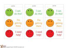 Teacher's Pet Displays » Self assessment prisms » FREE downloadable EYFS, KS1, KS2 classroom display and teaching aid resources » A Sparklebox alternative