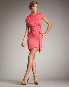 Alba Draped Minidress by Diane von Furstenberg at Bergdorf Goodman.
