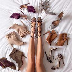 Fashion Week shoe roundup. Currently en route to the @marissawebbnyc show. #flatlay #flatlayapp #flatlays www.theflatlay.com