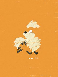 Minimal Growlithe by LaCron