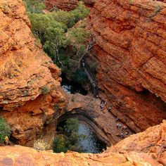 Kings Canyon - Garden of Eden Swimming Hole, Red Centre - Northern Territory (#ParkMyVan #VanHire #JethroBatts www.parkmyvan.com.au)