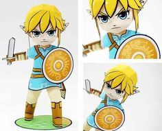 From the videogame The Legend of Zelda: Breath of the Wild , here is Link , in a perfect paper model version  created by Japanese designer ...