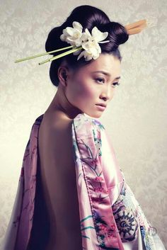 Japanese Stick Hairstyle