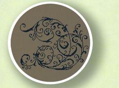 Elegant Decorative Scroll. Cross Stitch PDF Pattern by andwabisabi, $5.00