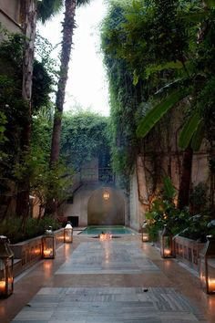 Beautiful Landscape Design at the Hotel Fenn, Marrakech, Morocco Oh The Places You'll Go, Places To Travel, Exterior Design, Interior And Exterior, Beautiful World, Beautiful Places, Riad Marrakech, Gazebos, Casa Patio