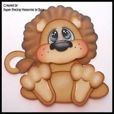 Lion Premade Paper Piecing Die Cut for Scrapbook Page by Babs Paper Piecing Memories by Babs