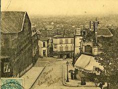 A gauche, bâtiment du Panorama Montmartre Paris, Paris France, Saint Ouen, Old Paris, Paris Street, Belle Epoque, Gauche, Panorama, Old Photos