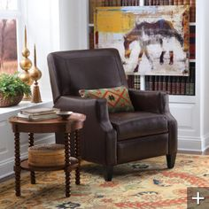 Raquel Leather Recliner - another handsome recliner (who EVER thought those two words would go together?!?!?).