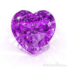 Diamond purple heart shape by Apttone, via Dreamstime