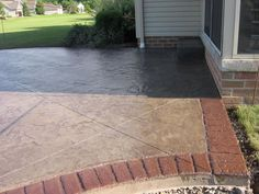 Concrete With Brick Border | Used Brick Border