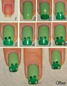 Tutorial para diseño de uñas con ranitas