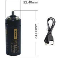 1400mAh Li-ion Rechargable battery to replace 3 AAA Flashling Battery Cartridge #PowerSmart