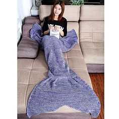 Warm and Soft All Seasons Mermaid Blanket Sofa Quilt Living room blanket (Small Children, 120*70CM) -- Visit the image link more details.
