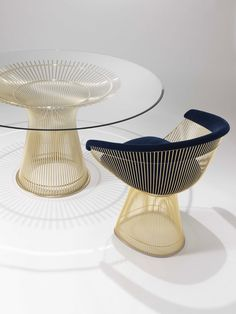 Knoll's Platner Chair Gold Collection, Salone Del Mobile 2016 #Milantrace2016 | http://www.yellowtrace.com.au/salone-del-mobile-milano-2016-best-new-furniture/