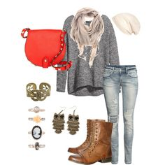 Fall outfit!-OMG I have almost all of these pieces-would never have put them together like this but I love it!