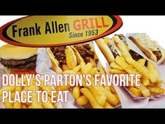 Dolly Parton's Favorite Place to Eat Frank Allen's Market and Grill Touring Dolly's Stomping Grounds Dolly Parton, Post Card, Places To Eat, Touring, Grilling, Make It Yourself, Stickers, Tennessee, Youtube