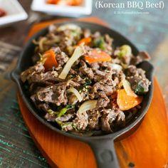 Bulgogi (Korean Marinated BBQ Beef)   MyKoreanKitchen.com