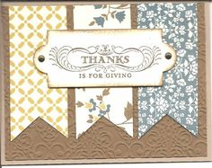 My Thanksgiving card by #1volunteer - Cards and Paper Crafts at Splitcoaststampers