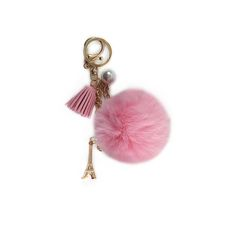 Fur Pom Pom Tassel Charm Keychain - Add these supple charms to your favourite bag; made of vegan leather, soft faux fur and some french flavours!