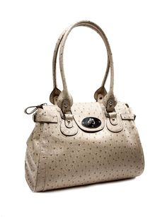 I really love this bag, it is so ladylike but the Ostrich skin texture is so fresh.